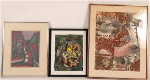 Three Abstracts by Three Artists