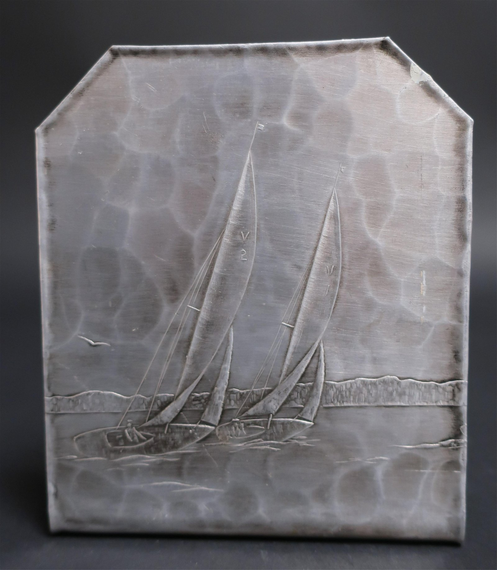 Wendell August Forge Sailboat Bookend