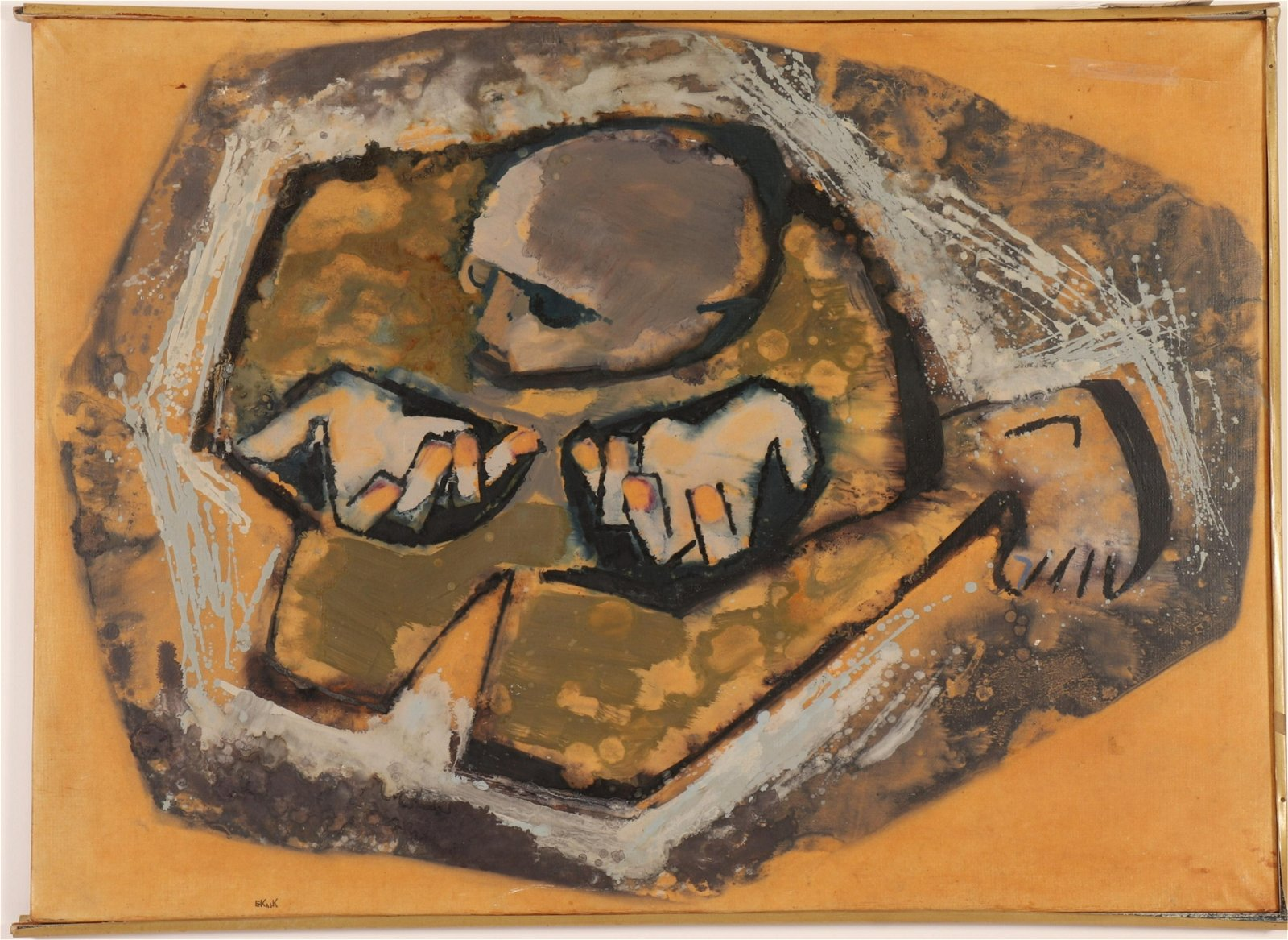 Eugen Kask (1918-1998, Ukranian) Abstract O/C