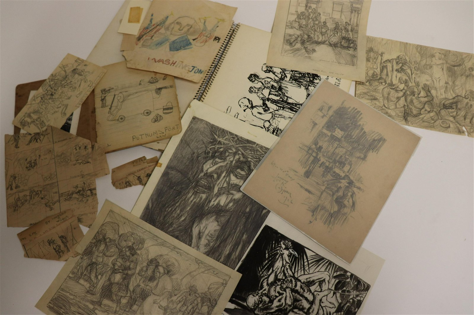Lawrence Wilbur, Lot of sketches, etc.