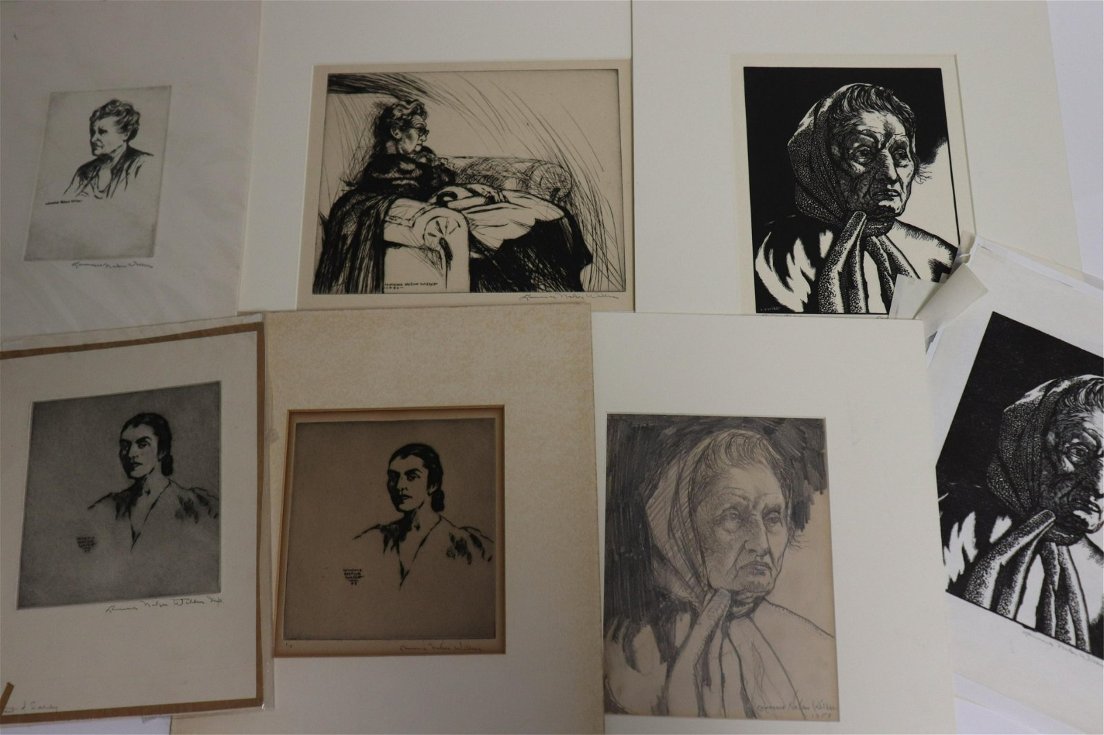 Lawrence Wilbur, 20 prints & drawings