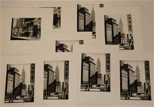 Lawrence Wilbur, 9 Etchings, New York scenes