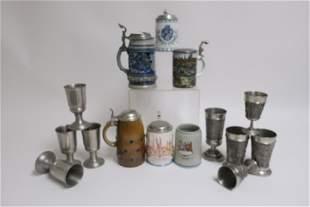 15 Various Drinking Vessels