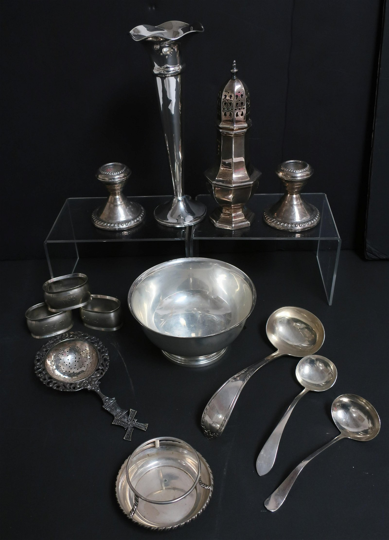 Small Group of Sterling & .800 Silver