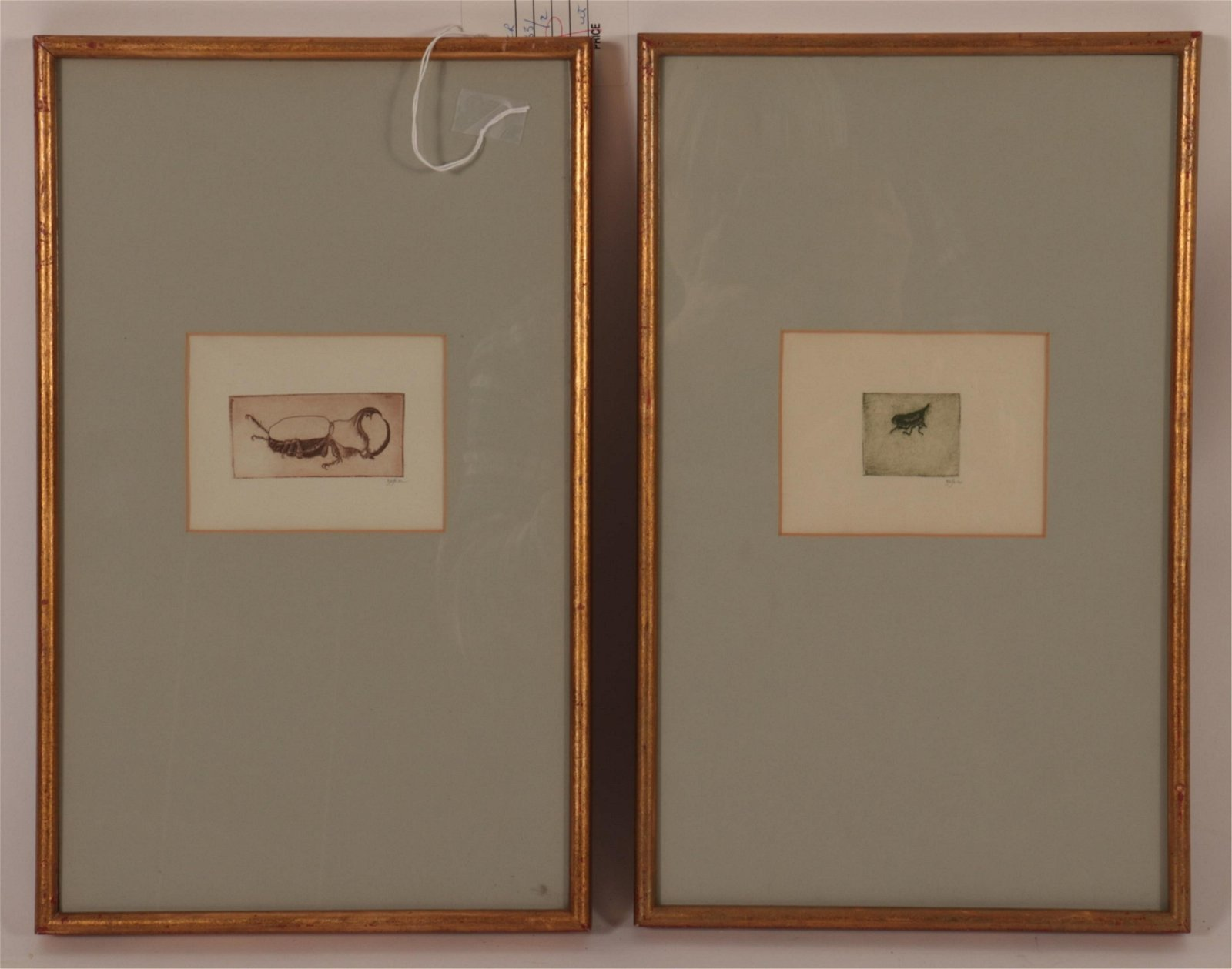 Leonard Baskin, 2 Prints of Insects