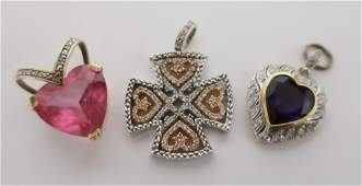 Group of Modern Gold Pendants