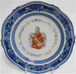 6 Chinese Export Armorial Plates, 18th C.