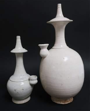 Two Tang Dynasty Kundika Water Sprinklers