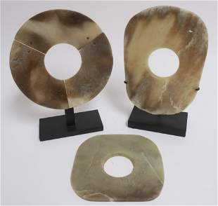 Three Neolithic Style Jade Ax Blades