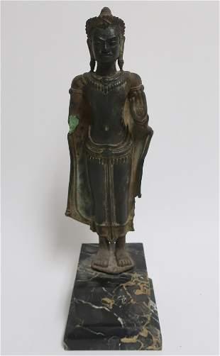 Lopburi Period Khmer Bronze Buddha