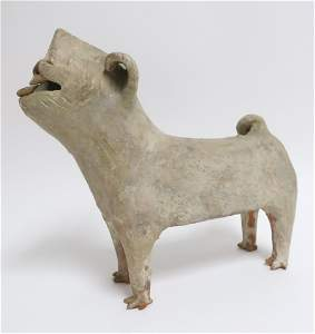 Large Han Dynasty Pottery Dog
