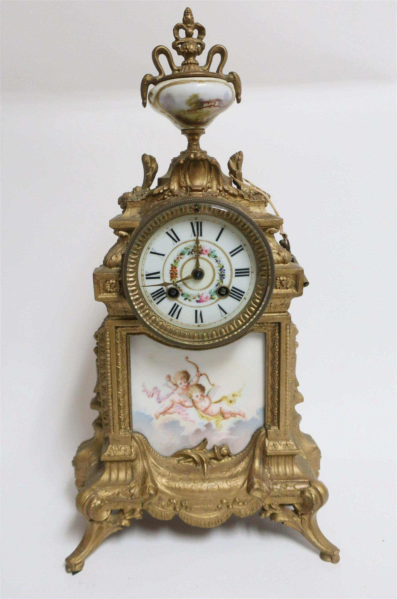 Louis XVI Style Striking Mantle Clock, 19th C.