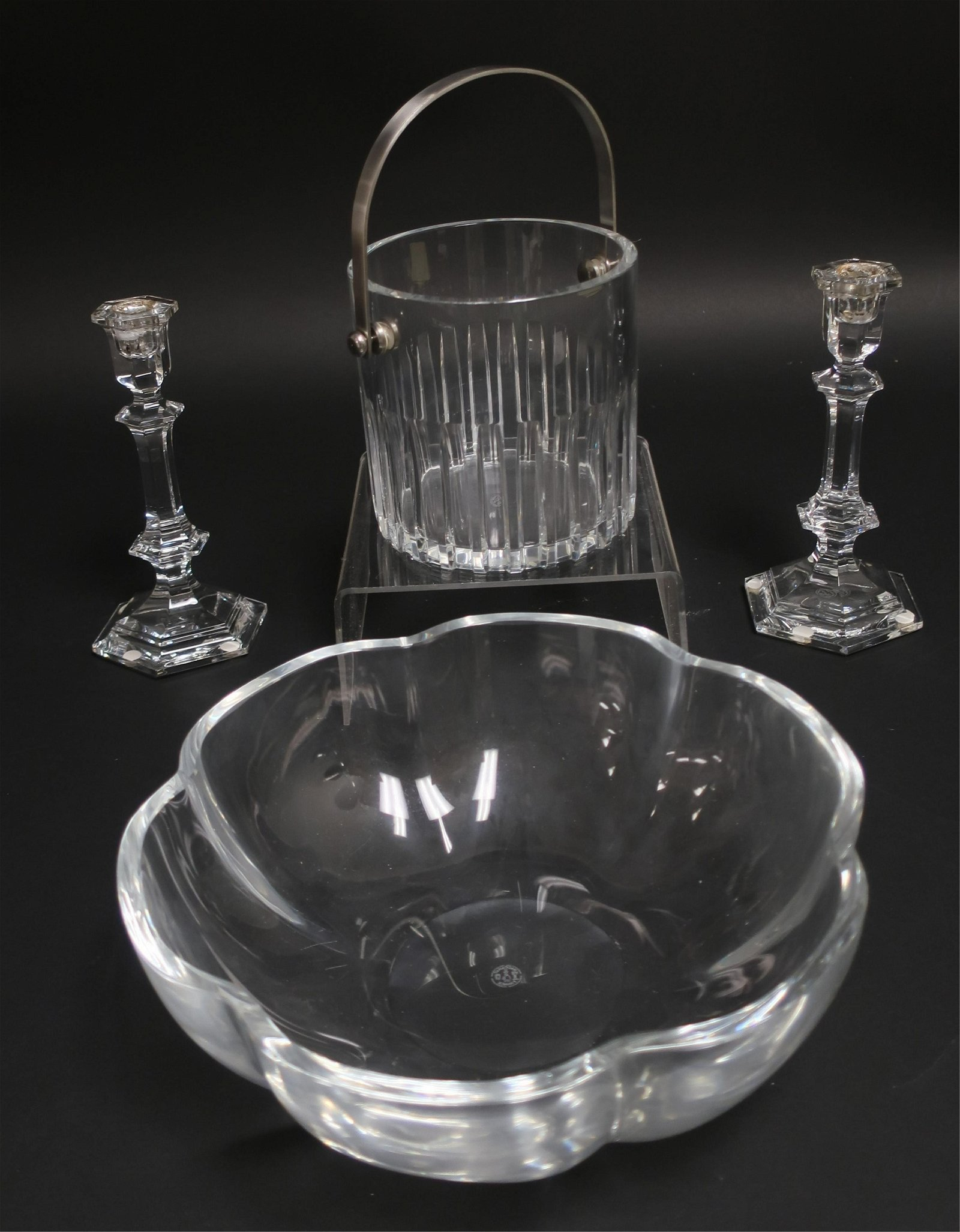 4 Baccarat Clear Glass Items