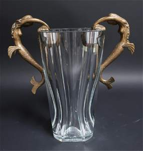 "Baccarat & Erte ""Sea Maidens"" Vase"