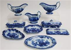 19 Flow Blue Scinde Transferware Wares 19th C
