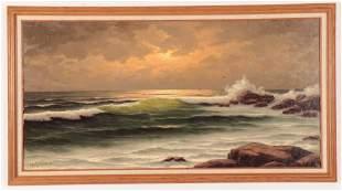 H.J.Wyngaarden - Surfscape With Backlit Wave, O/C