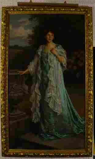 Charles Haigh-Wood, Portrait of a Lady, O/C