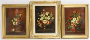 B Pal Kadas Flemish Style Floral Still LifesOB