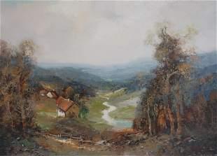Willi Bauer Valley Landscape
