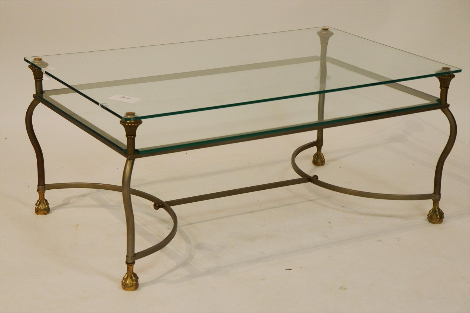 Brass & Glass 2-Tier Coffee Table
