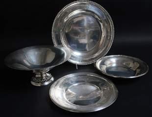 3 Sterling Silver 900 Silver TraysBowls