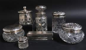 7 Victorian & Art Nouveau Silver & Glass Items