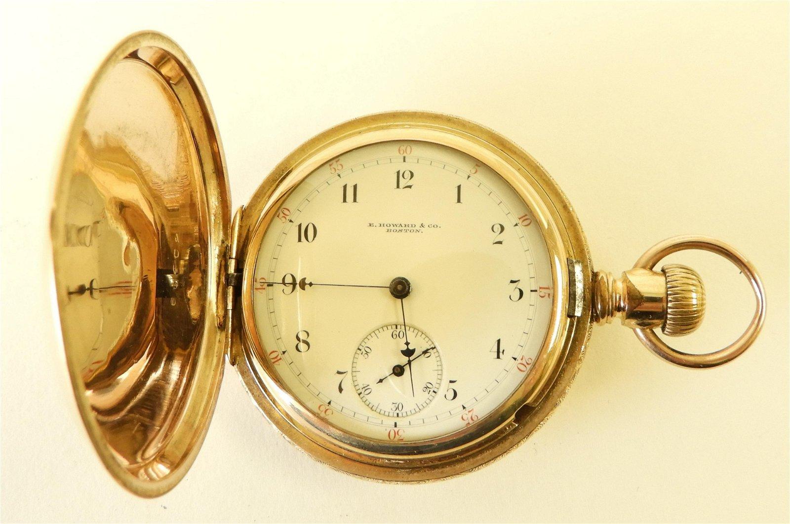 E. Howard & Co 14K and Diamond Pocket Watch