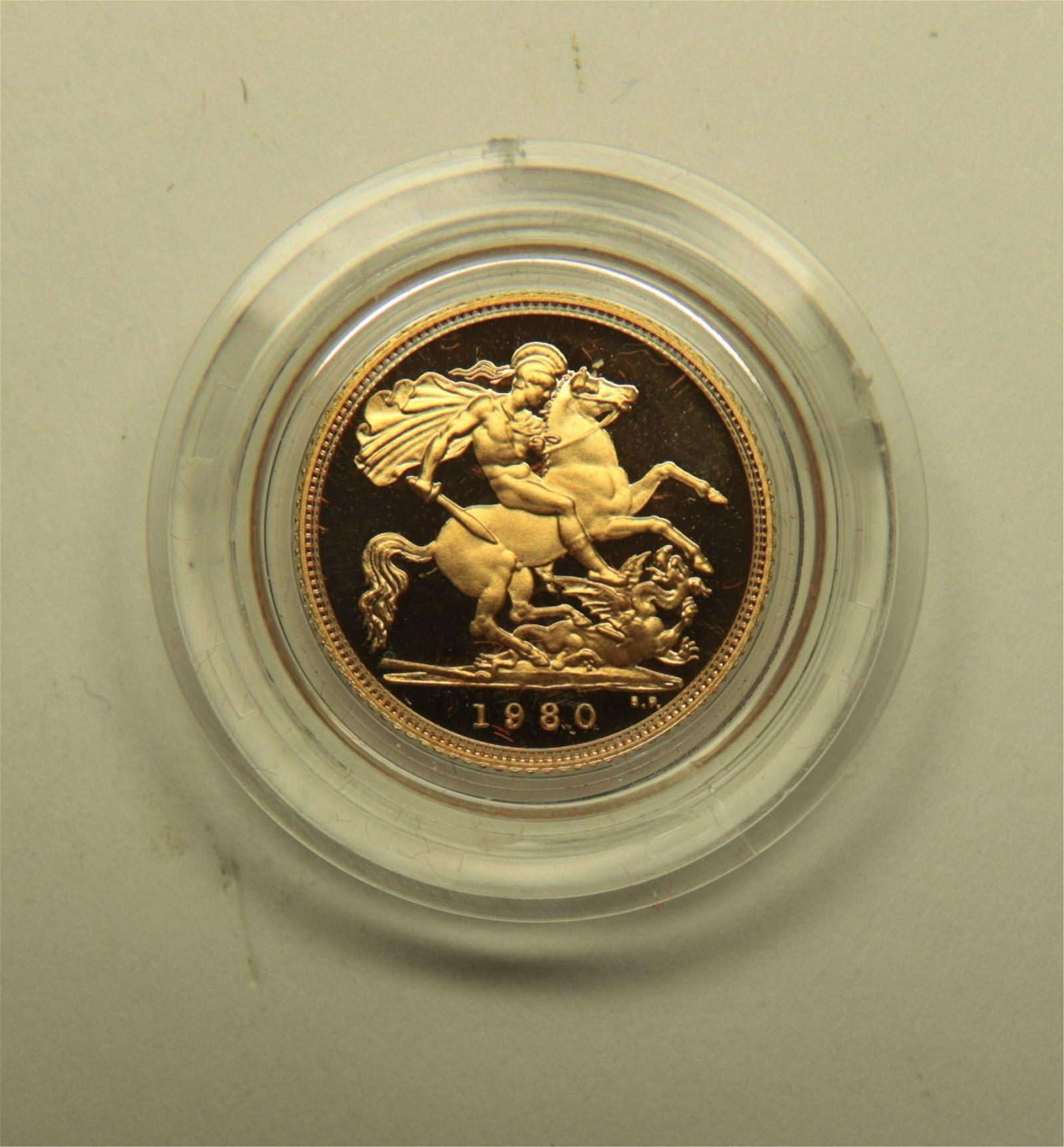 United Kingdom 1980 Half Sovereign Gold Coin