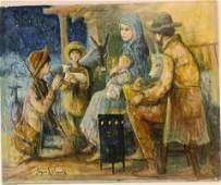 Jacques Lalande  Nativity Scene OC