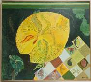 "Abby Goel, b.1942, ""Nenuphar"", 2000, Oil/Acrylic"