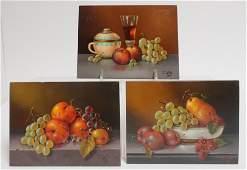 """Filkorn Tibor, AKA """"T Corn"""", 3 Fruit Still Life"""