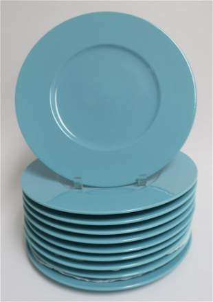 0 Turquoise Service Plates by Mikasa