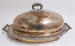 Antique Silverplate Entrée Cover & Platter