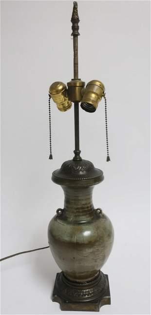 Chinese Celadon Vase as Lamp
