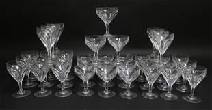 Set of 36 Baccarat Glass Stems