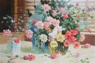 Van Reden, 'Vases of Flowers', O/C