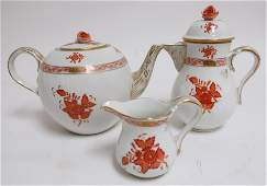 21 pcs Herend Porcelain Chinese Bouquet
