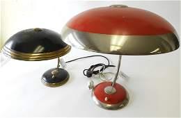 2 Art Deco Desk Lamps, circa 1930