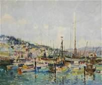 Manner of Mario Agostinelli  Harbor Scene