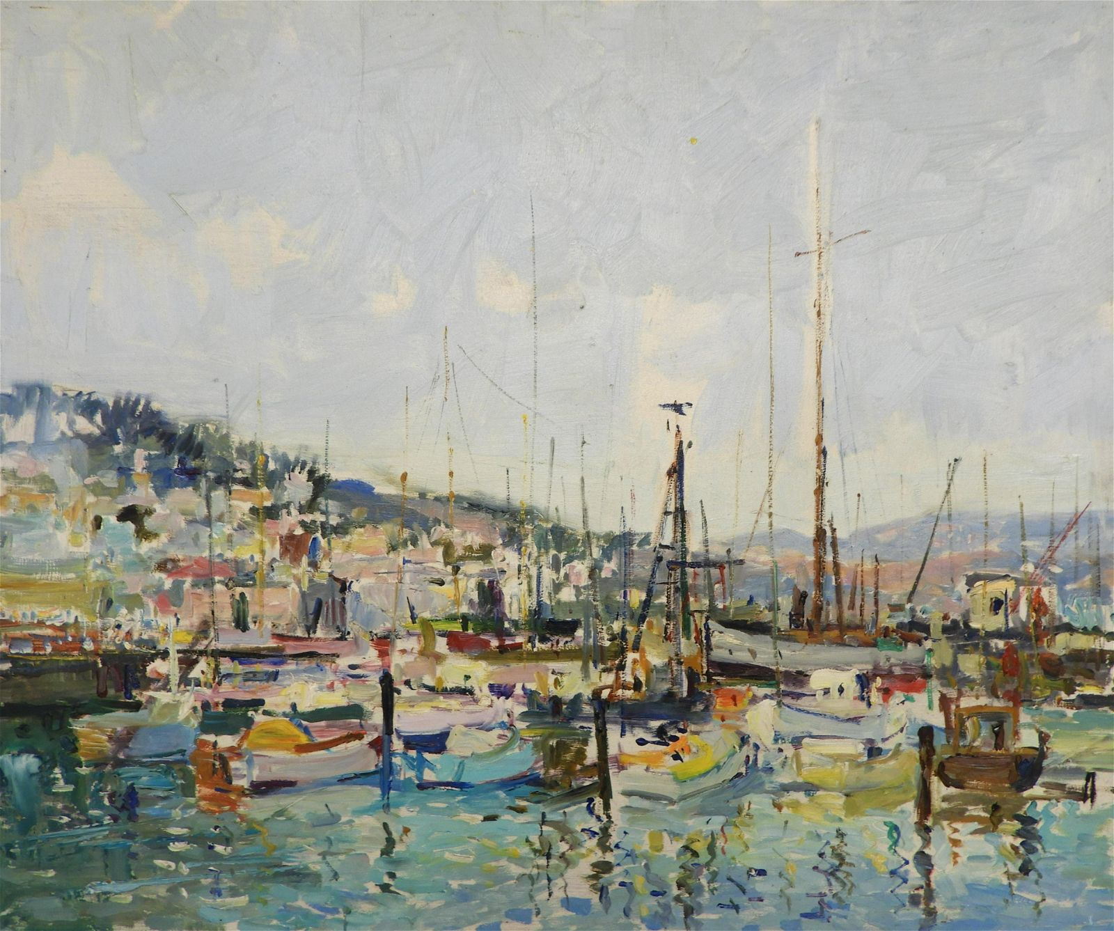 Manner of Mario Agostinelli - Harbor Scene