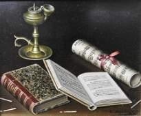 Lima Pizarro - Still Life with Books