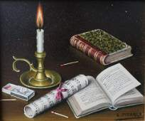 Lima Pizarro - Still Life with Candle