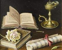 Lima Pizarro - Still Life with Music Sheets