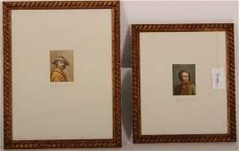 Pr 19th c Portraits Old Masters Mengs Allori W/C's
