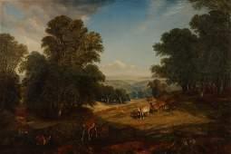 Deer in a Landscape, O/C after H.W.Banks David