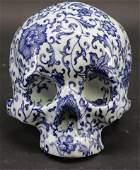Huang Yan, b. 1966/8, Chinese Porcelain Skull