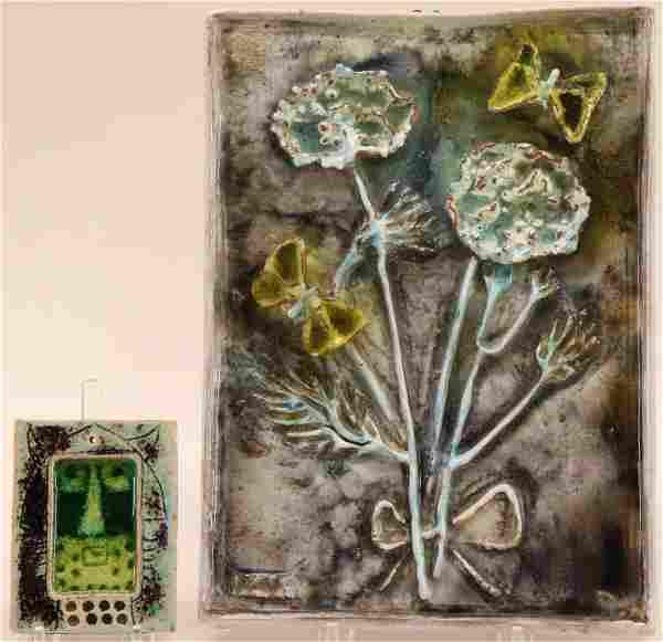 Ugo Lucerni, Flowers Butterflies Plaque & Other