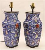 Pair of Asian Ceramic Vases as Table Lamps