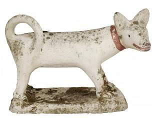 Primitive Cast Cement Dog