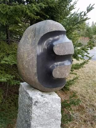 Mark Herrington Noguchi Style Granite Outdoor Sculpture
